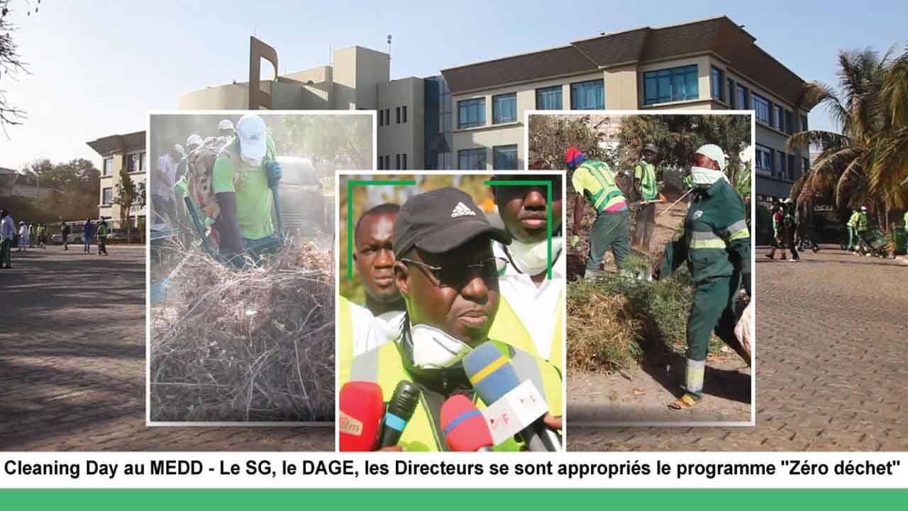 """Cleaning Day au MEDD – Le SG, le DAGE, les Directeurs se sont appropriés le programme """"Zéro déchet"""""""